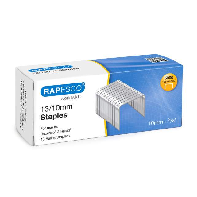 13/10mm Galvanised Staples (box of 5,000)