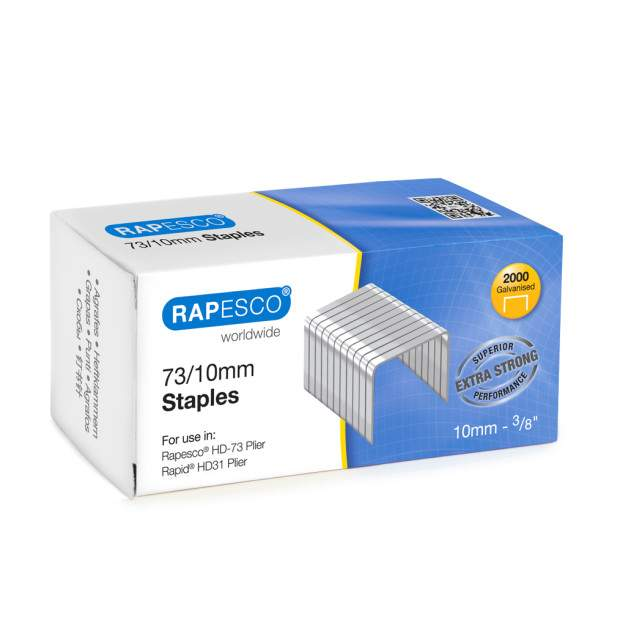 73/10mm Galvanised Staples (box of 2,000)