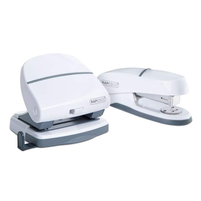 P20 Shimma Stapler & P30 2-Hole Punch Set – White